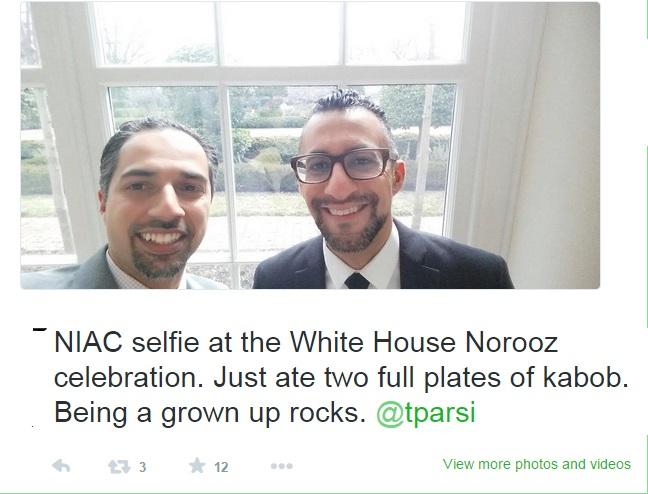 دو بشقاب چلوکباب در کاخ سفید، نوشته حسن داعی، 15 مارس 2015 :