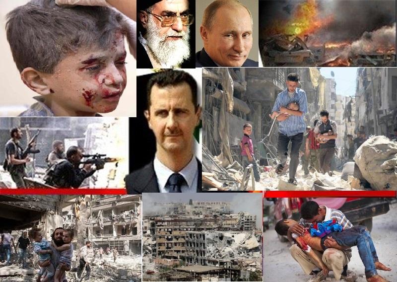 جنایات جنگی حکومت خامنه ای، بشاراسد و روسیه در سوریه، از دکتر بهرام آبار