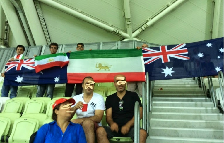 فوتبال ایران و عکسی از پرچم شیروخورشید